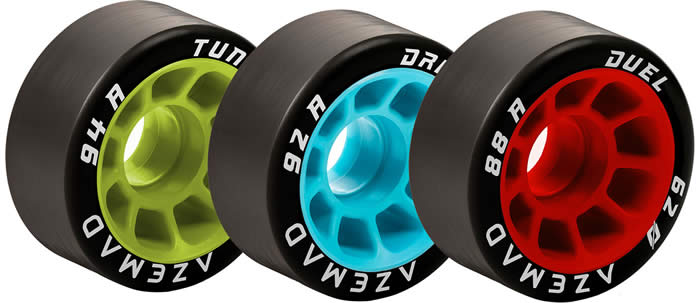 Azemad quad skate wheels