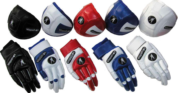 Slapshot Blaze hockey gloves & knee pads