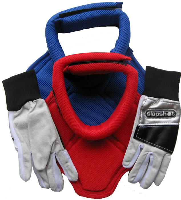 Slapshot neck guards and keepers inner gloves