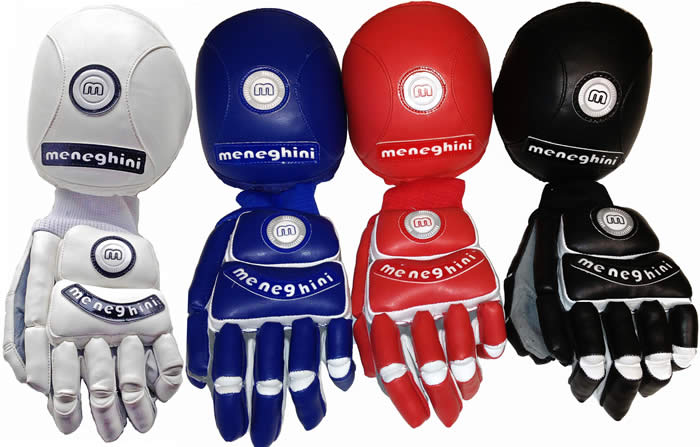 meneghini Spider glove and knee pad set