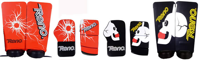 Reno Professional goal keeper gloves and leg guards