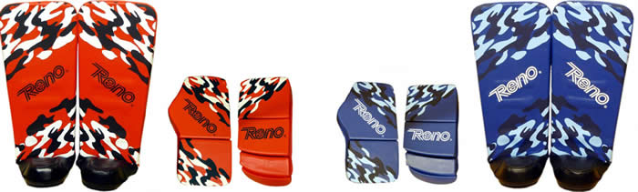 Reno Professional model goalkeeper gloves and leg guards